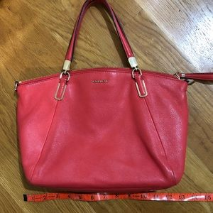 Candy apple red coach purse leather